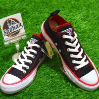 Termurah Sepatu Converse ALL STAR Low Black Lining Red