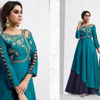 Navya Anarkali 03/Maxi Dress Gamis Pesta India/Gaun Pengantin Import