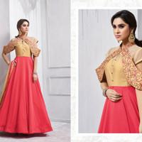 Navya Anarkali 07/Maxi Dress Gamis Pesta India/Gaun Pengantin Import