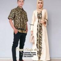 BEST QUALITY Gamis Couple Batik Sarimbit Bahan Katun Asyifa Syari