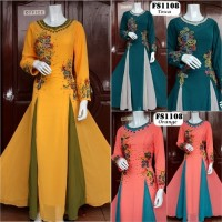 Jual Baju Pesta Muslimah Hycon Renda Impor FS1108 Murah
