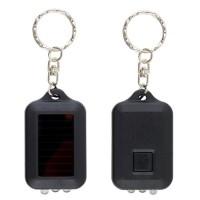 Gantungan kunci solar panel power senter lampu Mini LED Solar