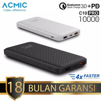 ACMIC C10 PRO PowerBank 10.000 mah Quick Charge 3.0