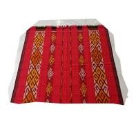 Harga kain tenun etnik motif lurik merah bahan baju   antitipu.com