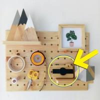 Hiasan kamera kayu mdf 13 x 8 cm