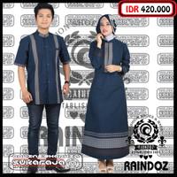 sarimbit baju couple seragam keluarga baju muslim sarimbit biru dongke