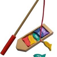 Mainan Anak Kayu Edukasi / Edukatif - Perahu Mancing