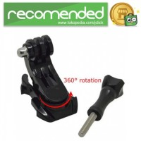 Bracket J-Hook Mount 360 Rotation for GoPro & Xiaomi Yi - Hitam