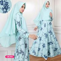 Gamis wanita muslim dress syari borneo