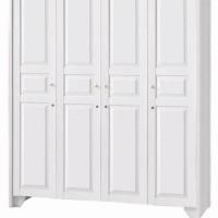Lemari pakaian 4 pintu putih