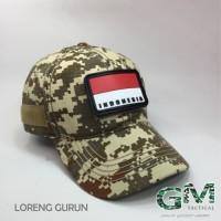 Topi Tactical With Velcro Loreng Premium