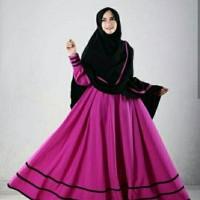 hp setelan set syari zulaiha magenta  pakaian wanita baju muslim dres