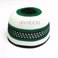 Peci Rajut Motif Dewasa (hijau/hitam/putih) @3000