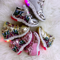 Sepatu Led Kets Little Pony untuk Anak Perempuan / Anak Cewek