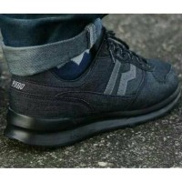 JHAYHA Afina- Sepatu PIERO JOGGER BLACK DENIM LIMITED EDITION Casual