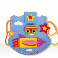Tas Kecil Karakter 3D Bahan EVA Paket Prakarya DIY Buatan Anak DT010