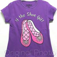 Baju kaos karakter anak perempuan oshkosh sepatu 7-10