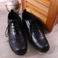 Sepatu pantofel pria kulit asli sepatu formal sepatu kerja Boston Zeko