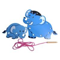 Indonesia Wooden Toys - Mainan Kayu Edukatif Papan Jahit 3 gajah