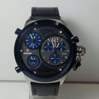 BARU Jam Tangan Pria Expedition E6396 Leather Black Triple Time