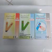 Paket Strip Easytouch GULA, ASAM URAT, KOLESTROL