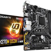 Gigabyte H370M-DS3H LGA1151, H370, DDR4, USB3.1, SATA3 Resmi NJT 3 Thn