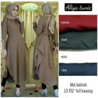 Aliya Tunik Model Baju Gamis Blouse Atasan Wanita Busana Muslim Modern