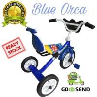 Diskon Sepeda Bmx Roda Tiga Anak Tricycle Sandaran Yoe Yoe Warna Biru