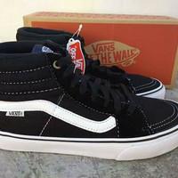 Sepatu Vans SK8 High Black-White / Tinggi Hitam-Putih