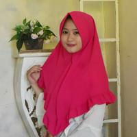 Kerudung Instan Muslim Wanita /Jilbab Remaja Aliza Fanta Baru Real Pic