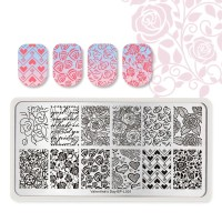 Stamping Plate for Nail Art Valentine's Day BPL001