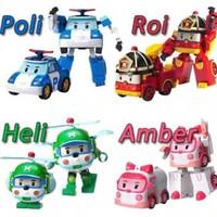 Robocar poli 1 set 4 pcs ( Poli , Roy , Amber , Heli)