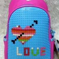 Tas Slempang lego (Jigsaw Puzzle Bag ) anak / Crossbody Sling