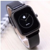 JAM TANGAN WANITA APPLE IPHONE LEATHER HITAM DISKON ASLI