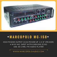 Harga amplifier karaoke power mixer karaoke 4 channel marcopolo mc | Hargalu.com