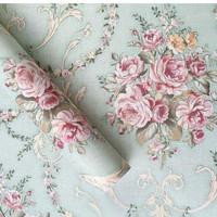 Harga wallpaper dinding sticker murah walpaper stiker batik shabby | antitipu.com