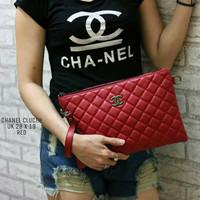 Tas Chanel Clutch Kulit Super Merah