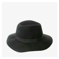 Jual STRADIVARIUS classic black hat original branded murah topi fedora Murah