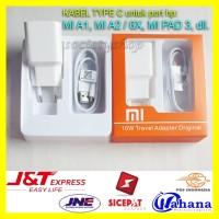 Charger Type C Xiaomi Mi A1 A2 6X Pad 3 Carger Casan Putih Hp Xiomi 5