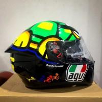 Helm AGV K3SV Motif Tartaruga Turtle Fullface Double Visor K3 SV