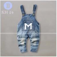 Celana Kodok Anak Laki-laki Motif M Jumpsuit Jeans Anak Cowo Branded