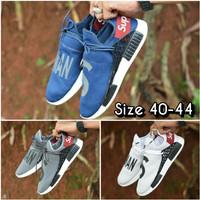 Sepatu sneakers casual running adidas human s race x supreme men cowok - Biru, 41