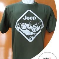 Harga logo jeep rambu kaos katun sablon otomotif cotton combed | antitipu.com