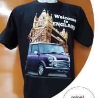 Harga mini cooper england kaos katun sablon otomotif cotton combed | antitipu.com