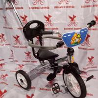 sepeda anak roda tiga besi pmb 921 stirnya bisa lipat rangka nickel