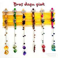Koleksi Bros dagu batu giok koleksi bros hijab muslimah harga murah