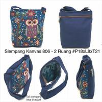Jual Tas selempang mini import / tas kanvas / tas thailand gajah owl Murah