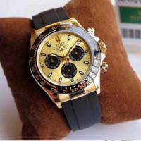 Jam Tangan Replica Rolex Daytona YG 116518LN ARF Gold Dial