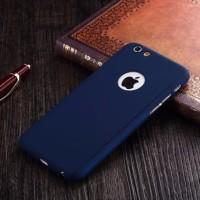 Hardcase Case 360 Iphone 5 Warna BIRU / NAVY Free Tempered Glass Cover
