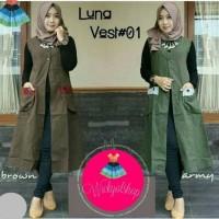 Luna Vest Rompi Cardigan Model Baju Gamis Atasan Wanita Busana Muslim